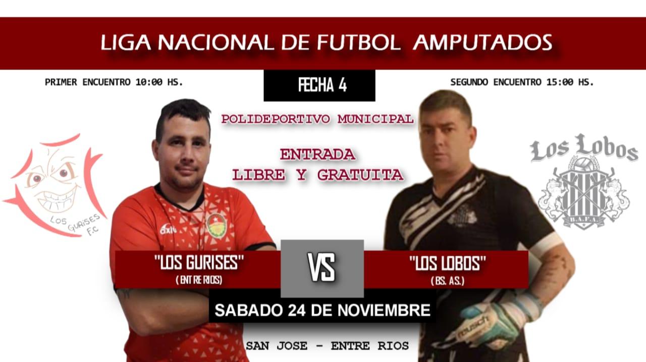 Fútbol para amputados: se viene una nueva fecha de la Liga Nacional