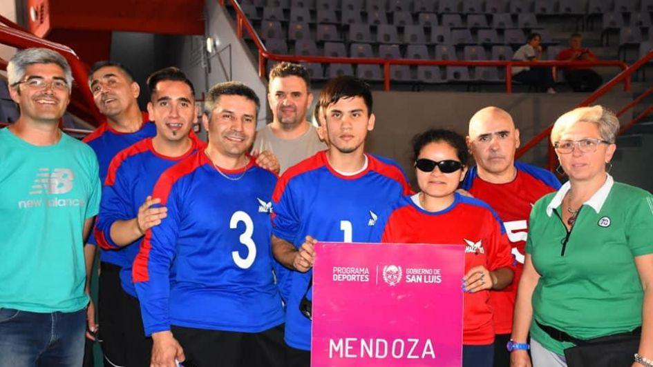 Goalball: Los Halcones de Mendoza, campeones del Regional Centro