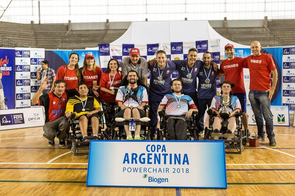 Powerchair football: Titanes de Córdoba, campeón de la Copa Argentina