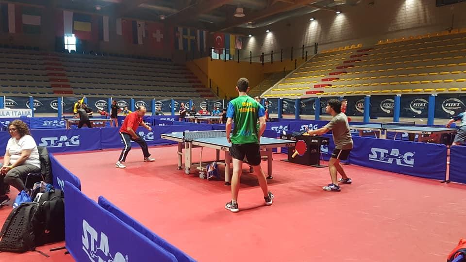 Tenis de mesa adaptado: siete argentinos en Italia
