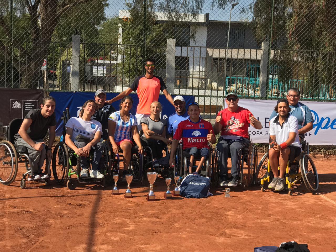 Tenis adaptado: Ledesma, campeón en Chile