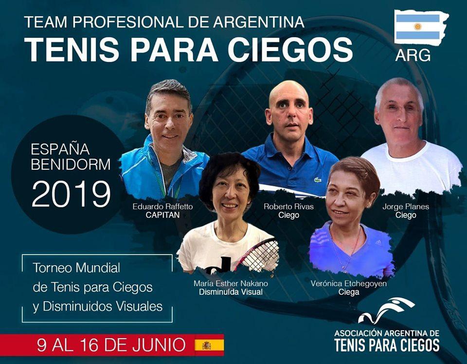 Tenis para ciegos: Argentina competirá en el Mundial