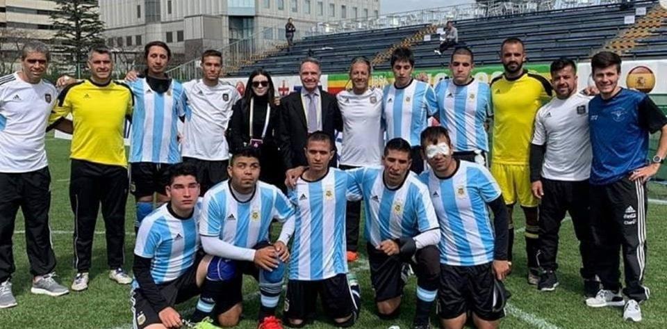 Fútbol para ciegos: Los Murciélagos, listos para el debut de la Copa América