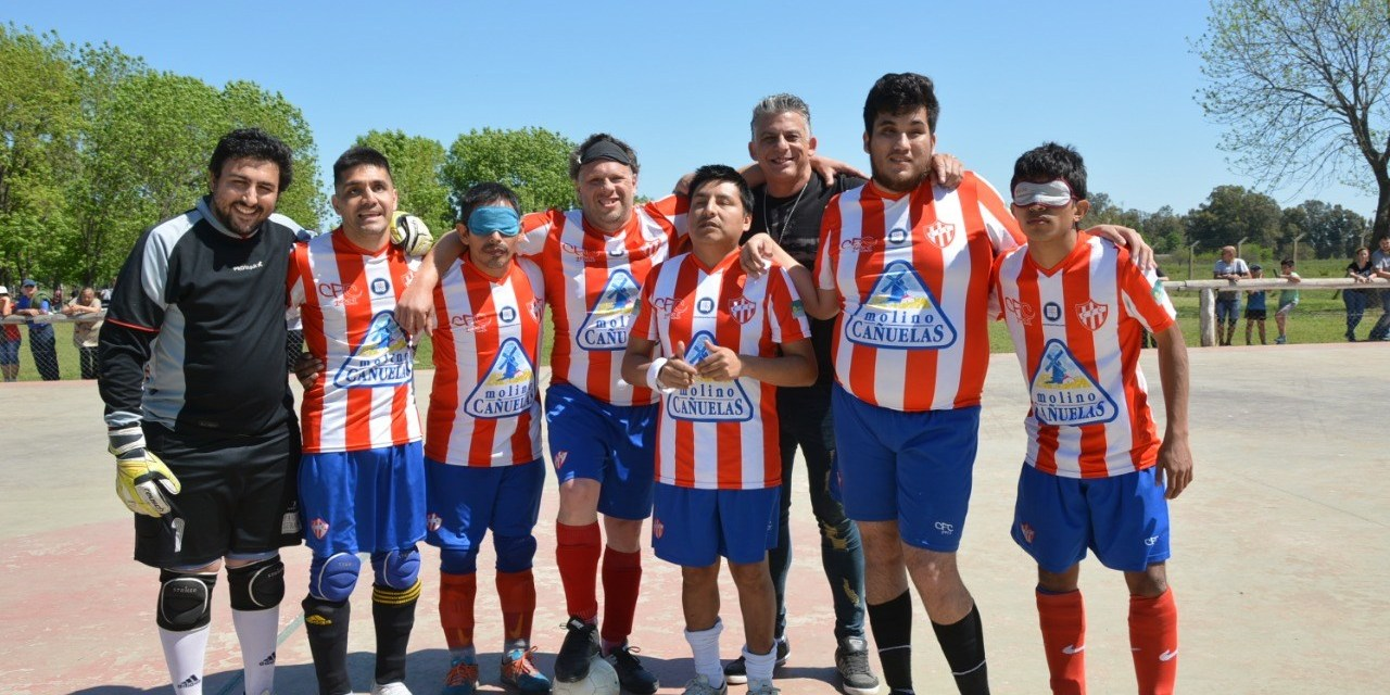 Fútbol para ciegos: Fundación Paradeportes Cañuelas FC juega la segunda fecha de la Liga Nacional en La Pampa