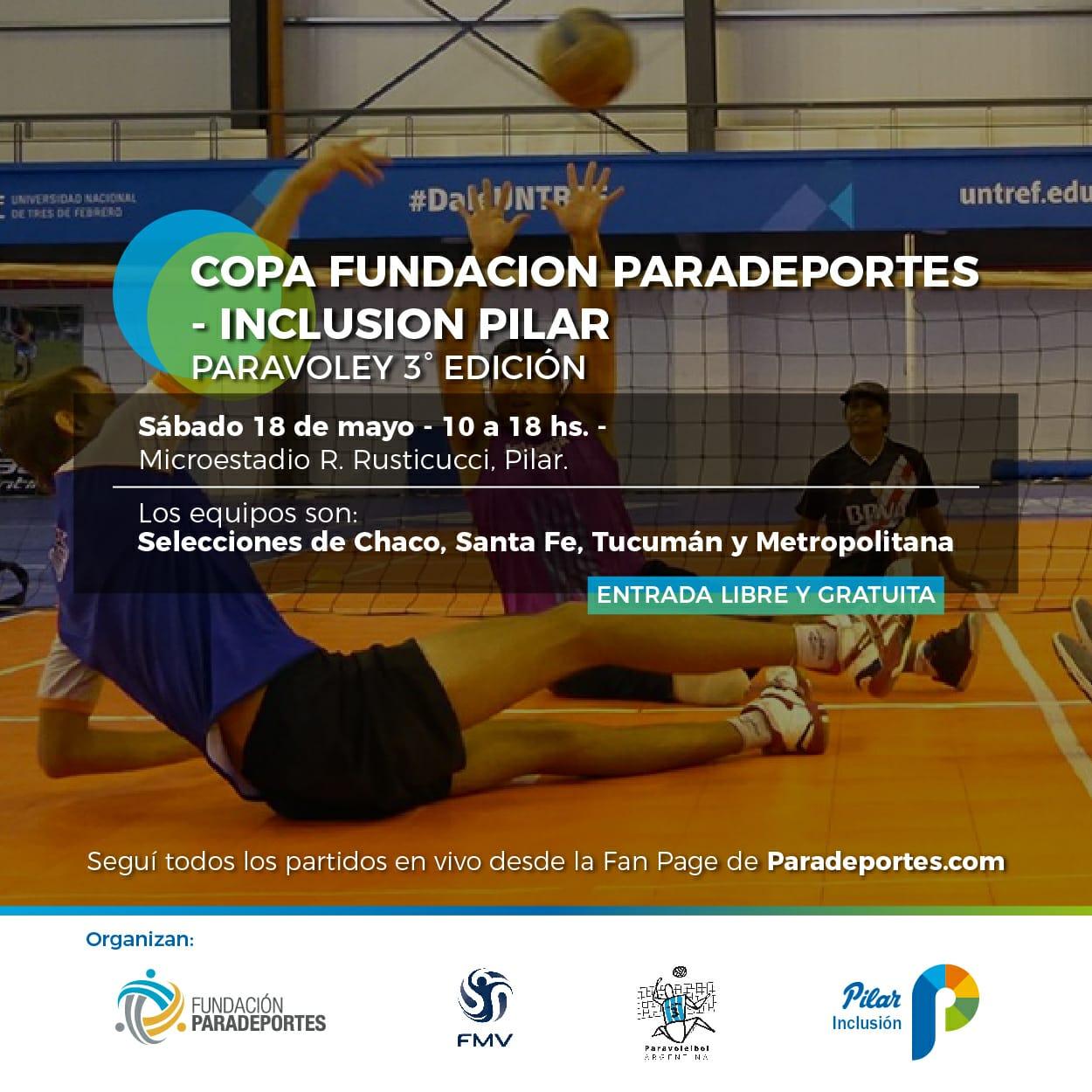 """Se viene la 3ra. edición de la """"Copa Fundación Paradeportes – Inclusión Pilar"""" de paravoley"""