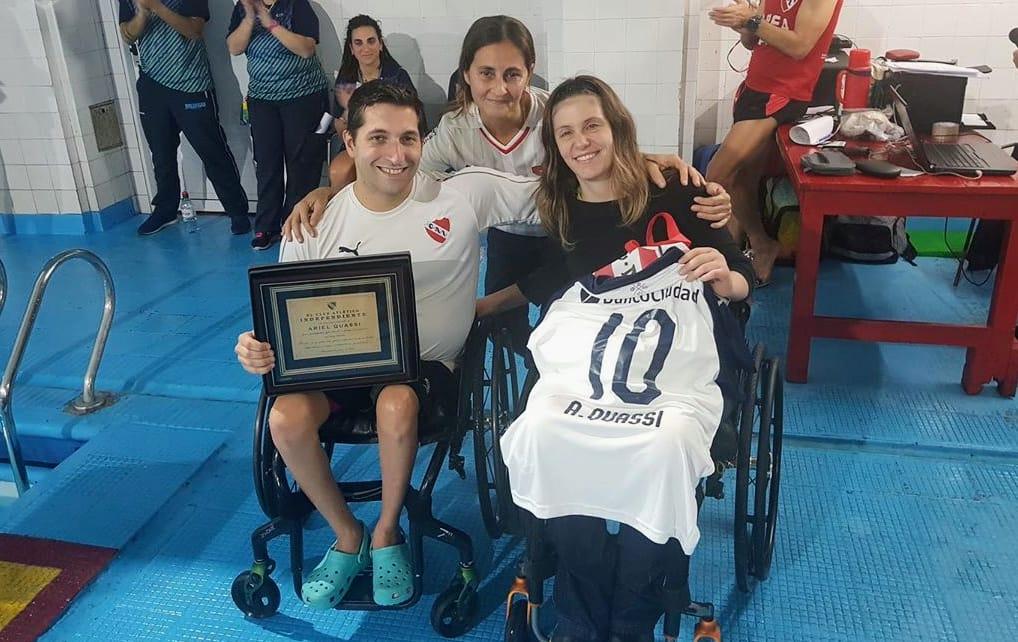 Ariel Quassi tuvo su despedida en Independiente