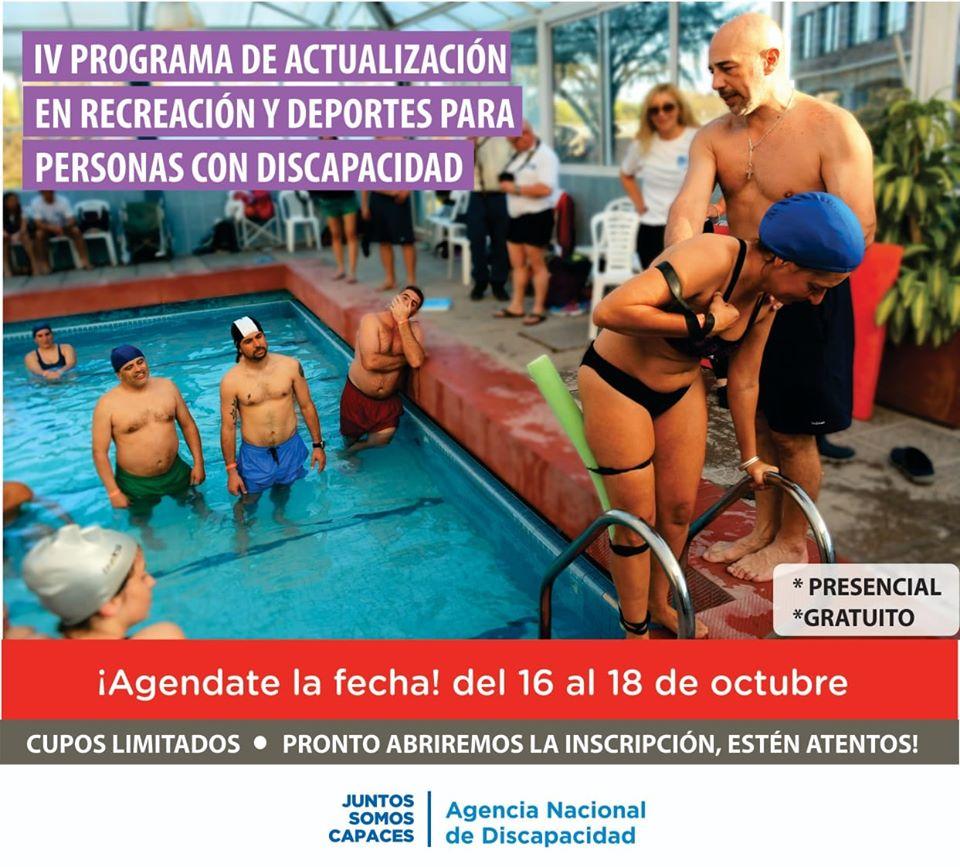 Se viene el 4° programa de actualización en recreación y deportes para personas con discapacidad