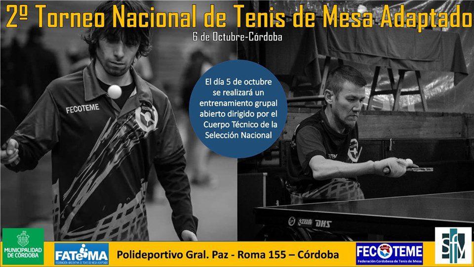 Tenis de mesa adaptado: el Torneo Nacional se traslada a Córdoba