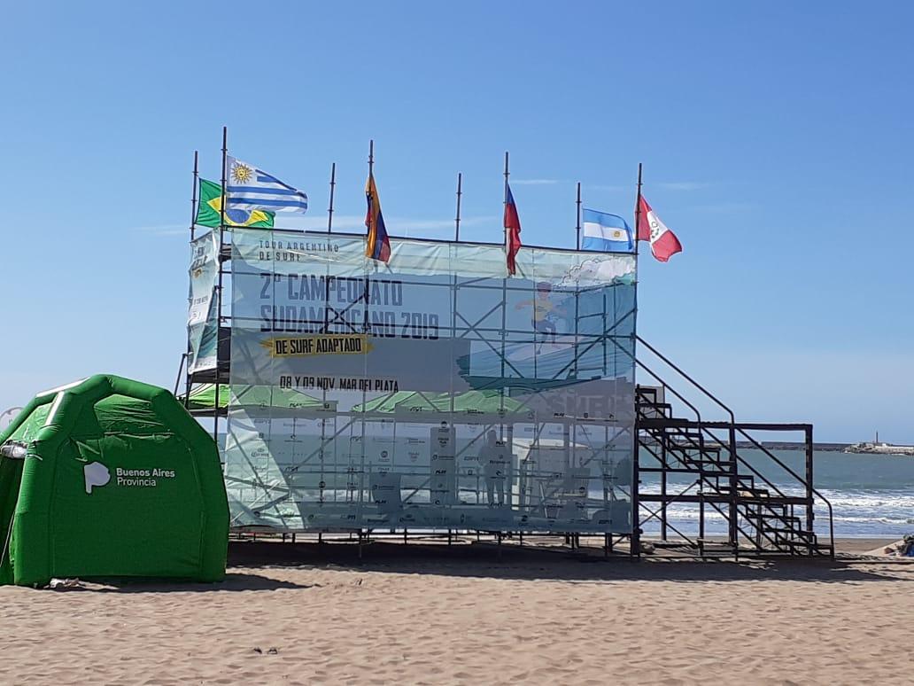 Mar del Plata ya está lista para el Campeonato Sudamericano de surf adaptado