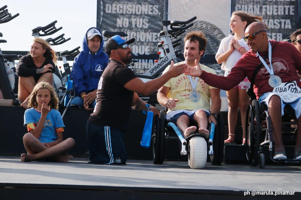 Surf adaptado: la primera fecha del Torneo Nacional se disputó en Pinamar