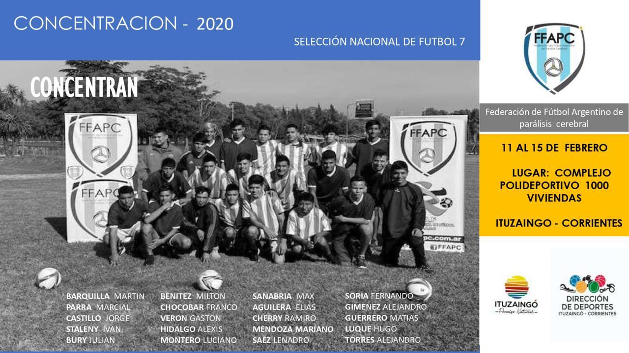 Fútbol 7: la Selección Argentina se prepara para la Copa de las Naciones