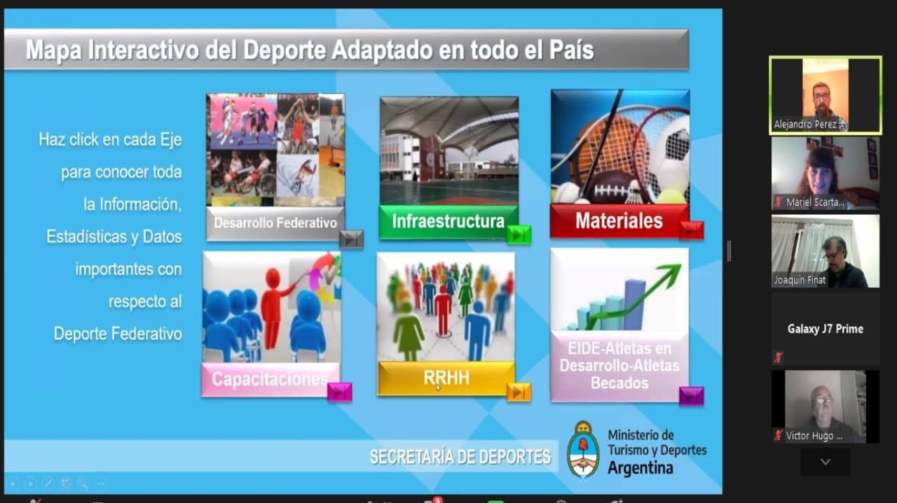 Básquet sobre silla de ruedas: la gestión deportiva y los programas de la Secretaría de Deportes, ejes de una charla imperdible