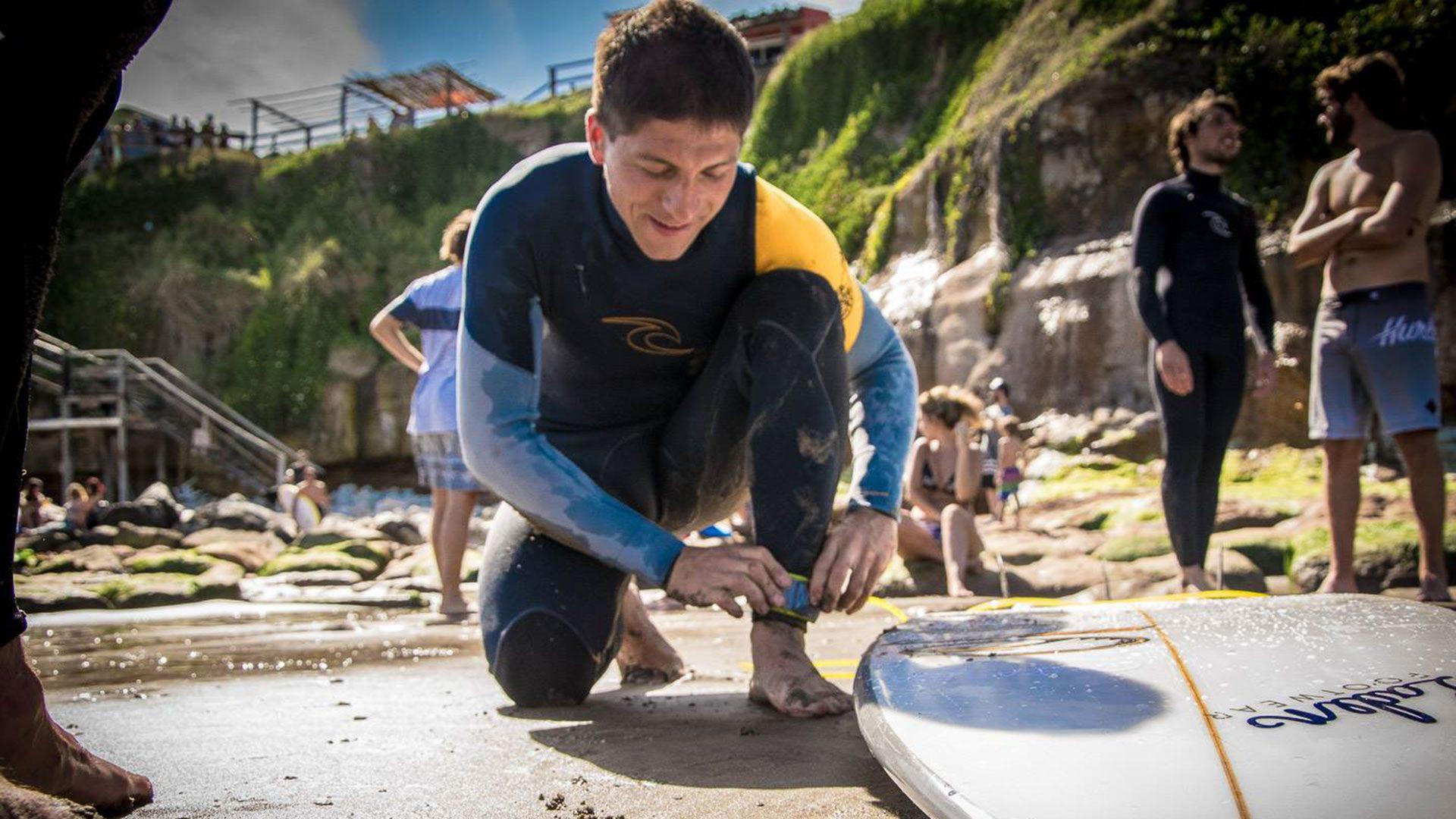Pablo Martínez, el surfista ciego de la Selección Argentina que aprovechó el 2020 para dedicarse a su otra pasión: el coaching