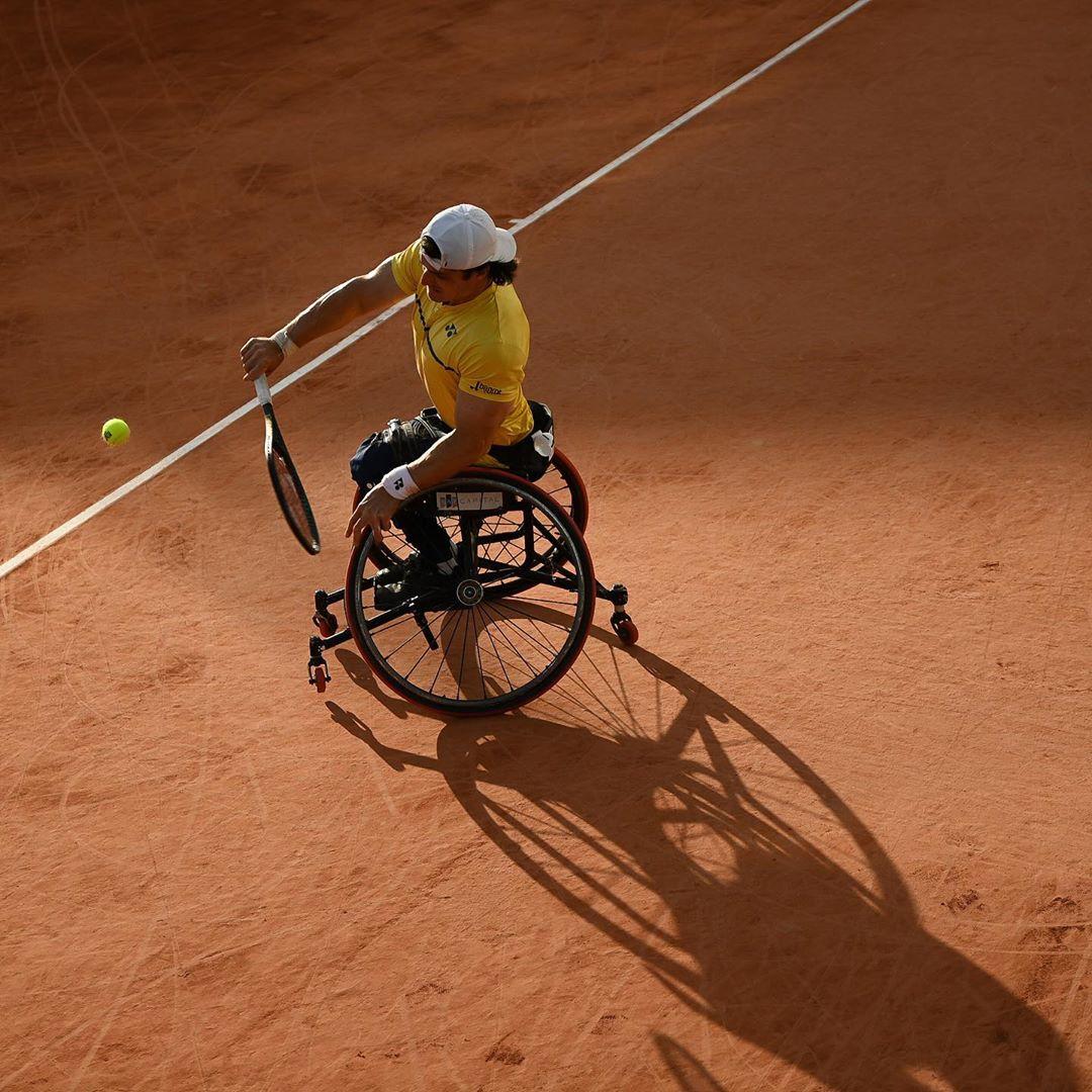 Tenis adaptado: Gustavo Fernández cayó en semifinales de Roland Garros