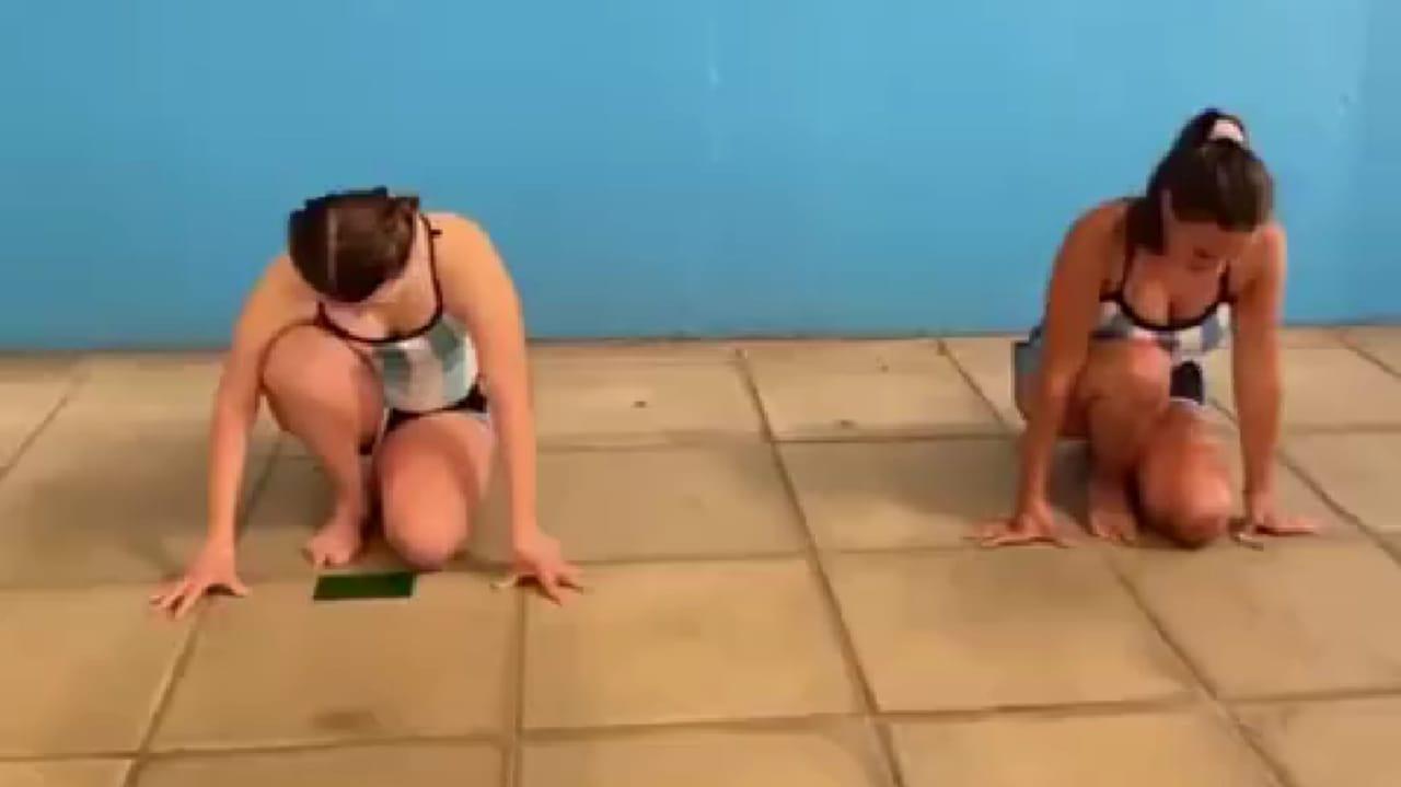 Natación artística: coreo inclusiva en los Juegos Porteños virtuales