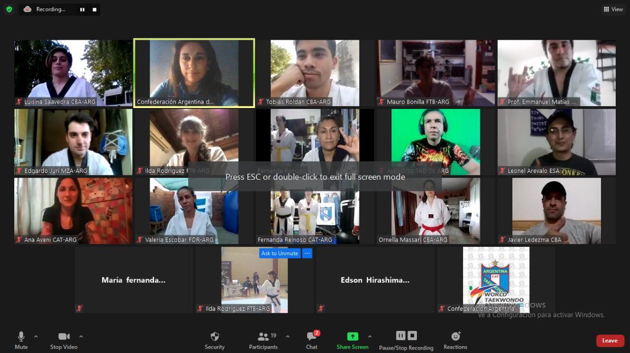 El taekwondo para sordos realizó su primer encuentro internacional virtual