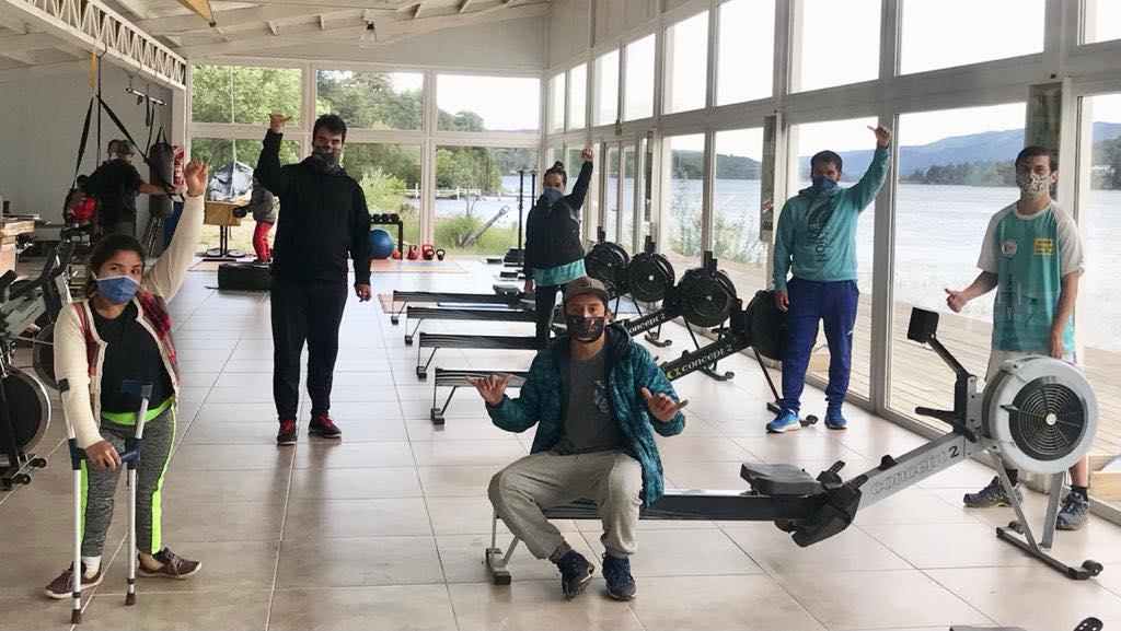 El equipo barilochense de remo adaptado participó de una regata virtual
