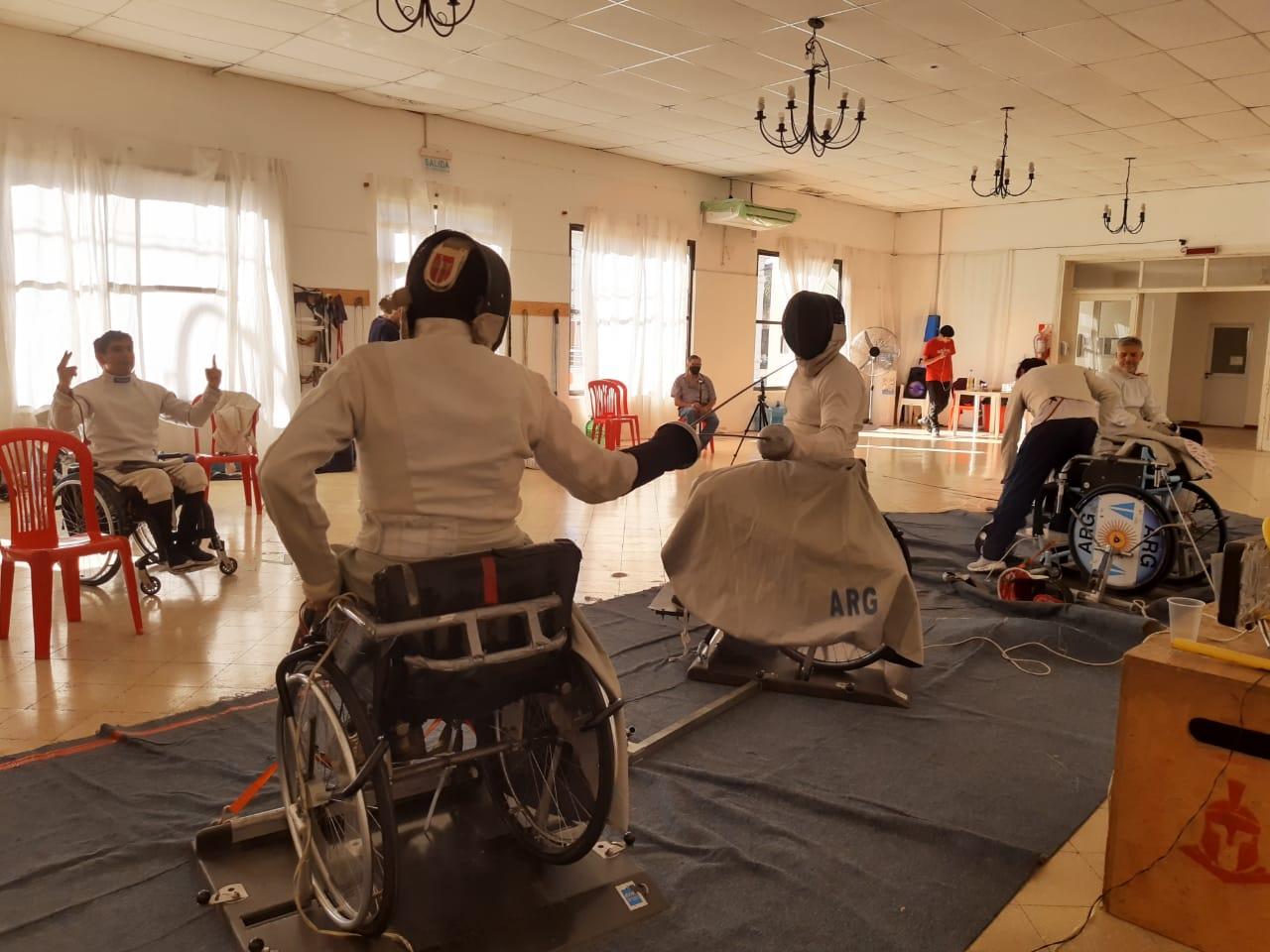 Esgrima paralímpica: la Selección Argentina se concentró en Carmen de Areco