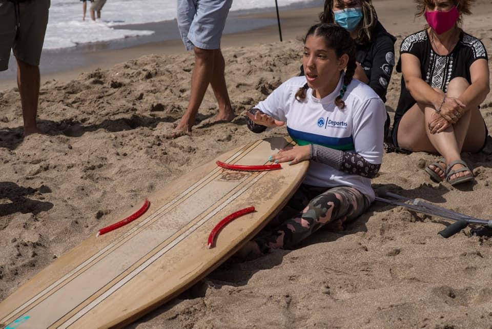 """Georgina Melatini: """"Creamos un espacio que le hacía falta al surf adaptado"""""""