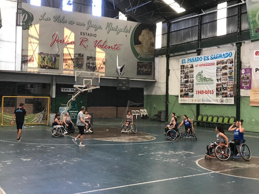 Básquet sobre silla de ruedas: Las Lobas y su primera concentración de la temporada
