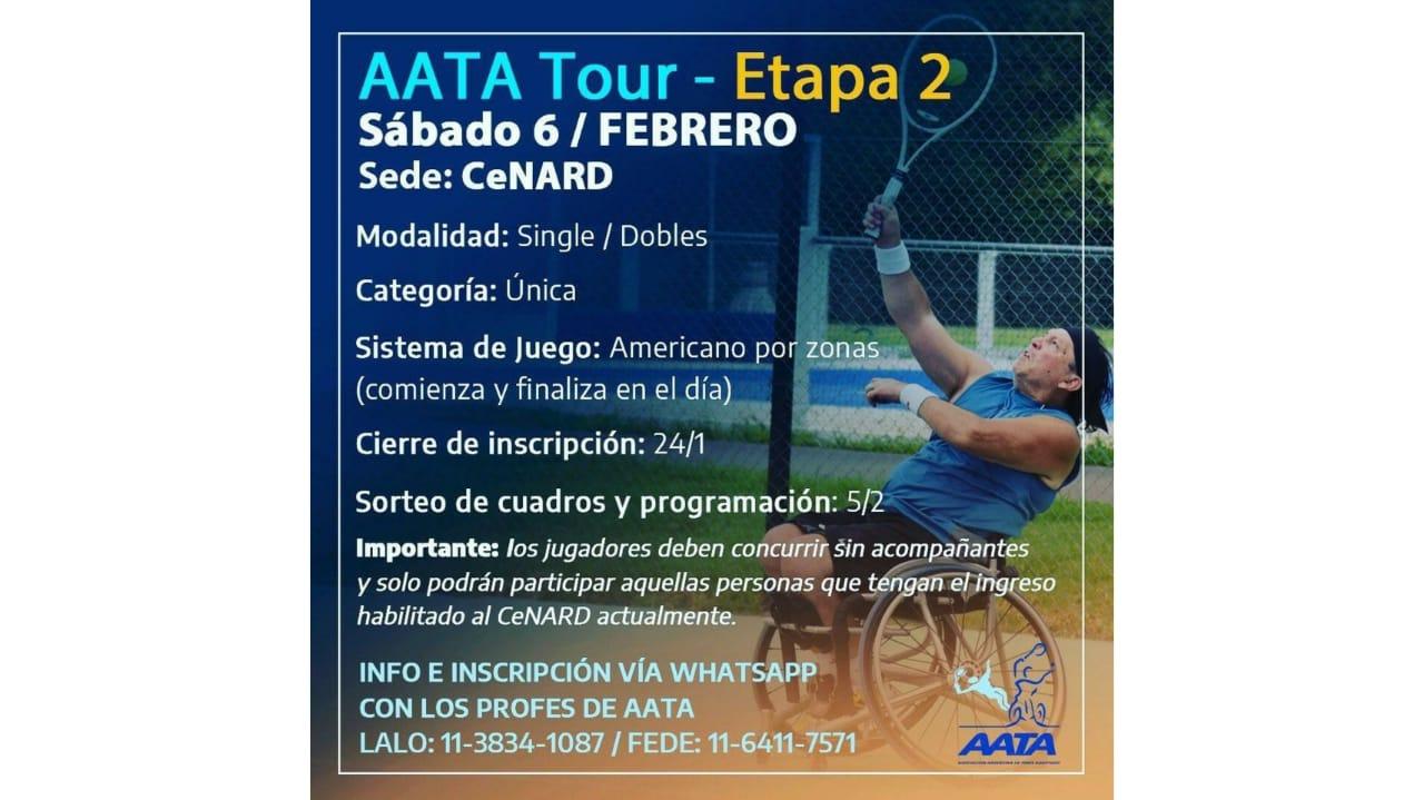 Tenis adaptado: se viene el segundo AATA Tour del 2021