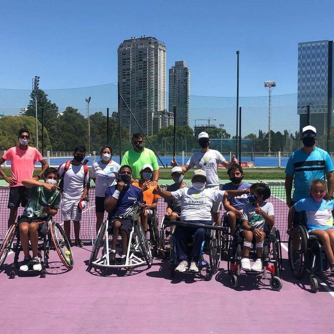 Tenis adaptado: se realizó una concentración juvenil con otra fecha del AATA Tour