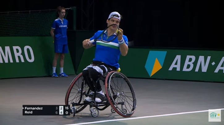 Tenis adaptado: Gustavo Fernández cayó en semifinales en el Abierto de Rotterdam