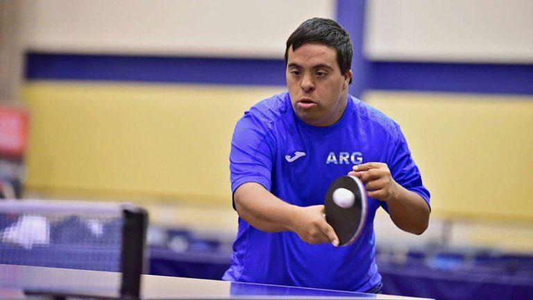 Tenis de mesa para personas con síndrome de Down: Juan Pablo Castet compitió en Rosario