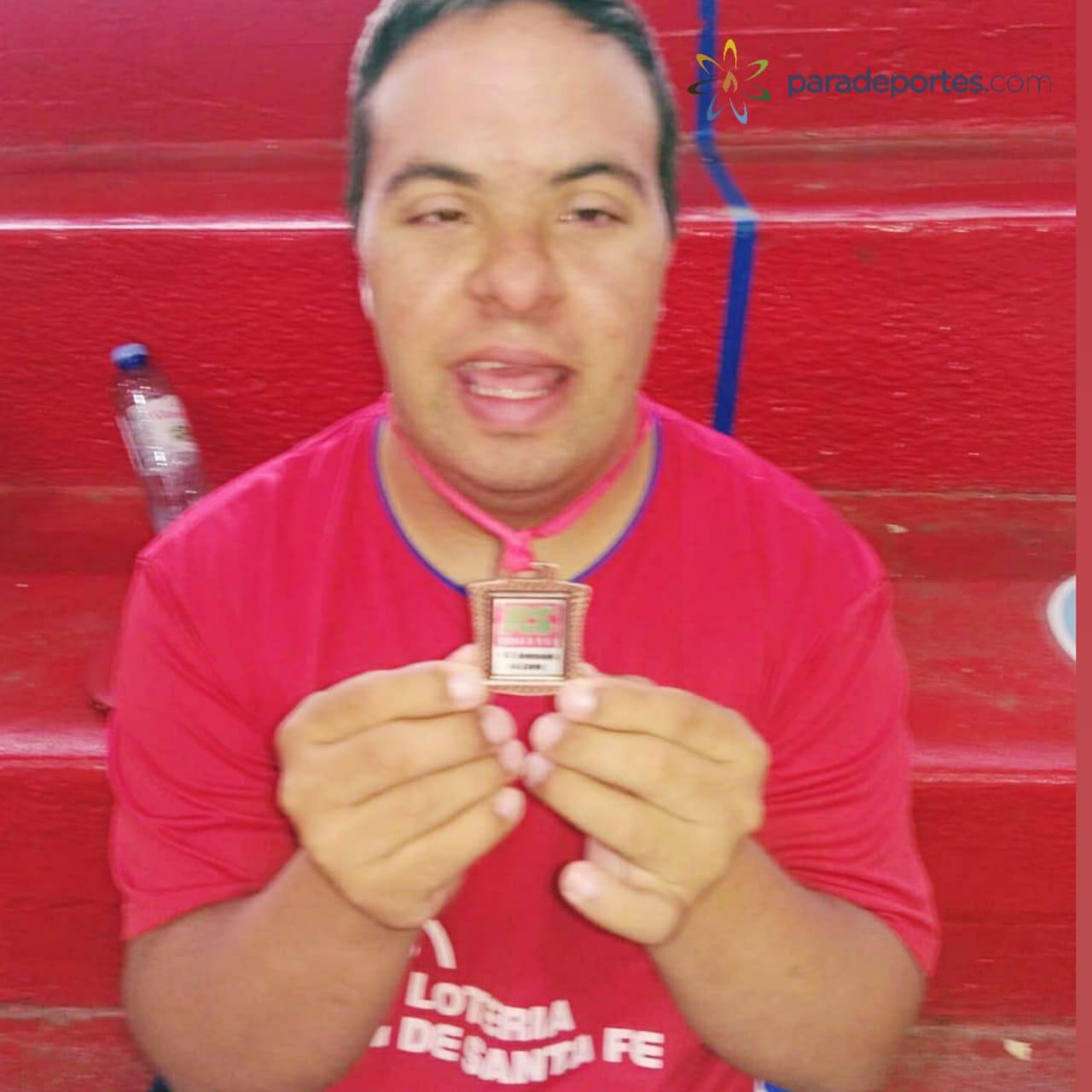 Tenis de mesa para personas con síndrome de Down: Juan Pablo Castet, tercero Zárate