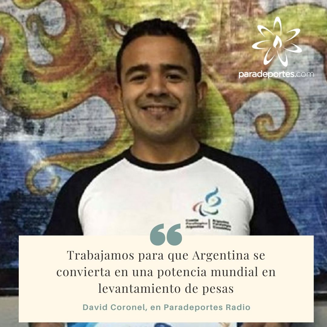 """David Coronel en Paradeportes Radio: """"Trabajamos para que Argentina se convierta en una potencia mundial en levantameinto de pesas"""""""