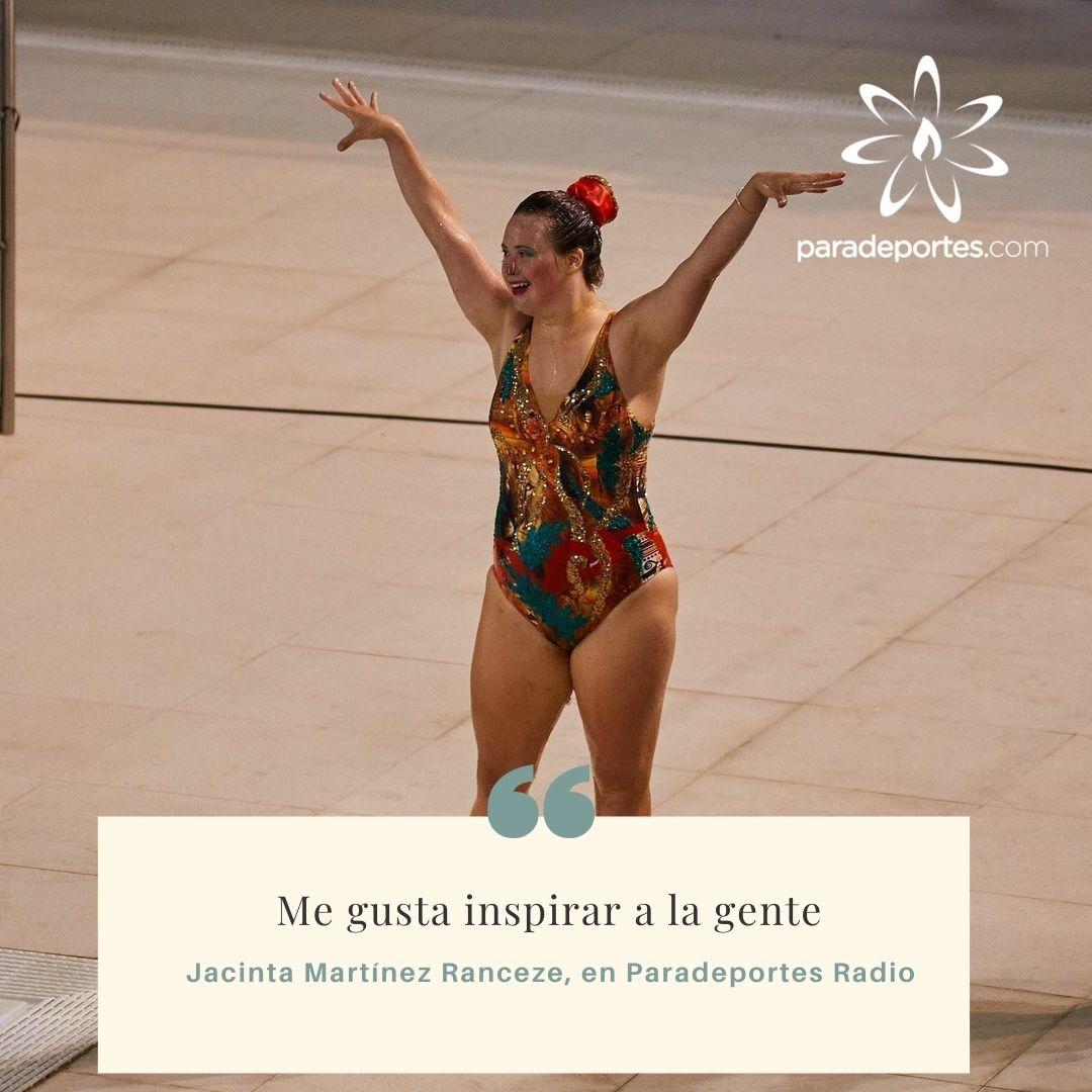 """Jacinta Martínez Ranceze en Paradeportes Radio: """"Me gusta inspirar a la gente"""""""