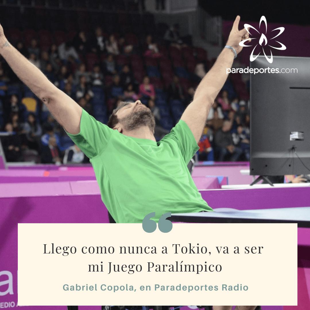 """Gabriel Copola en Paradeportes Radio: """"Llego a Tokio como nunca, va a ser mi Juego Paralímpico"""""""