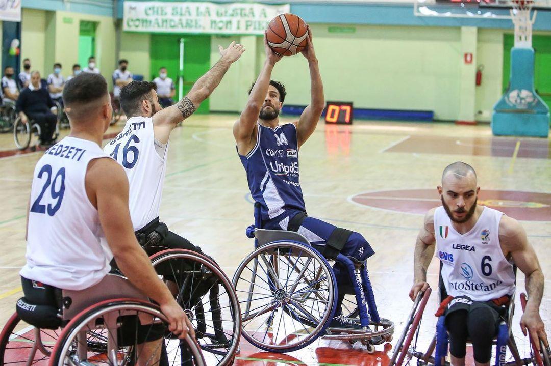Básquet sobre silla de ruedas: ajustada derrota del Briantea84 de los argentinos Berdún y Esteche en la primera final de Italia