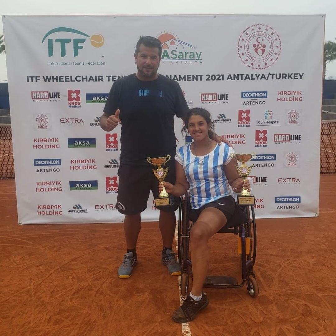 Tenis adaptado: Florencia Moreno, subcampeona en Turquía