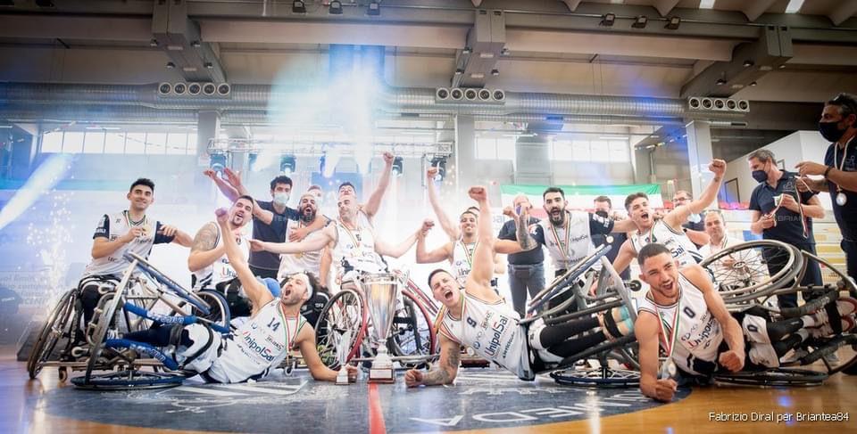 Básquet sobre silla de ruedas: el Briantea84 de los argentinos Berdún y Esteche se quedó con el título en Italia