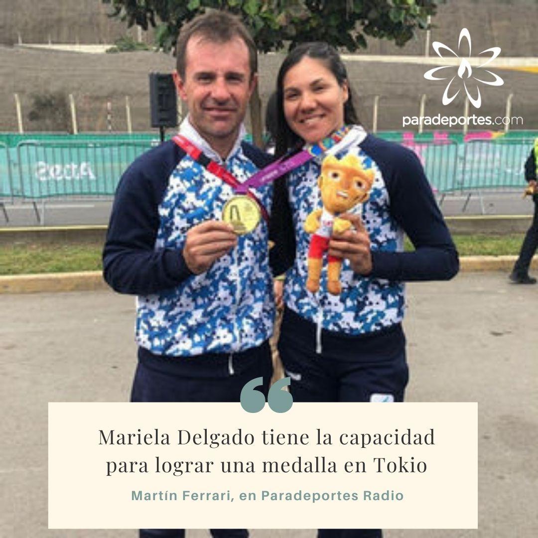 """Martín Ferrari en Paradeportes Radio: """"Mariela Delgado tiene la capacidad para lograr una medalla en Tokio"""""""