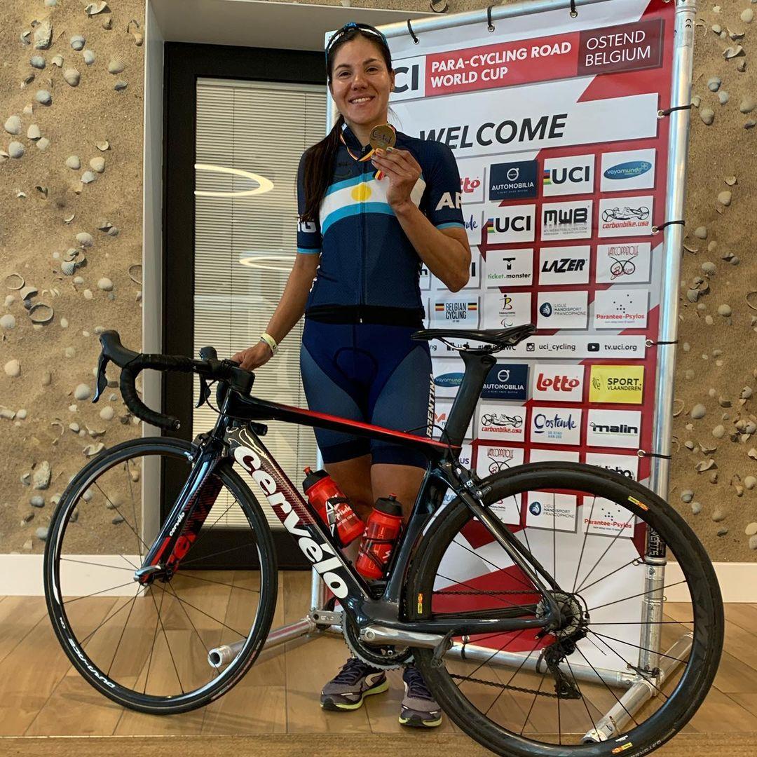 Paraciclismo: Mariela Delgado, medalla dorada en la Copa del Mundo de Bélgica
