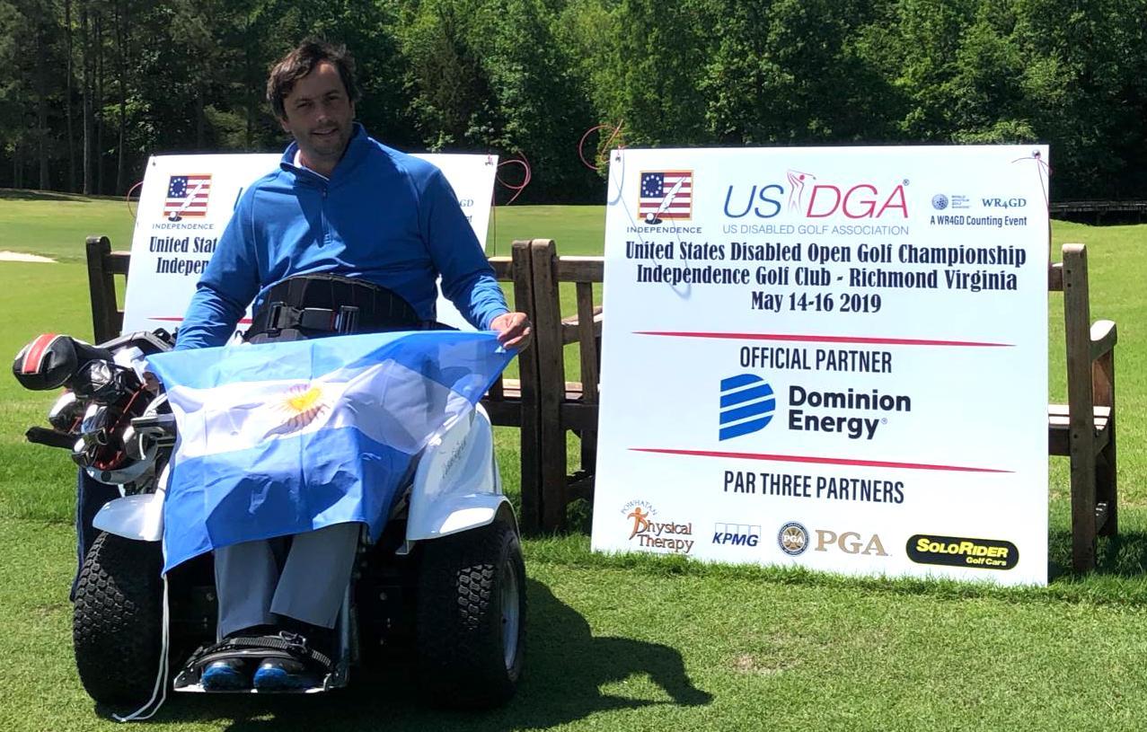 Golf adaptado: Mariano Tubio competirá en el US Open, donde ya fue campeón en 2019