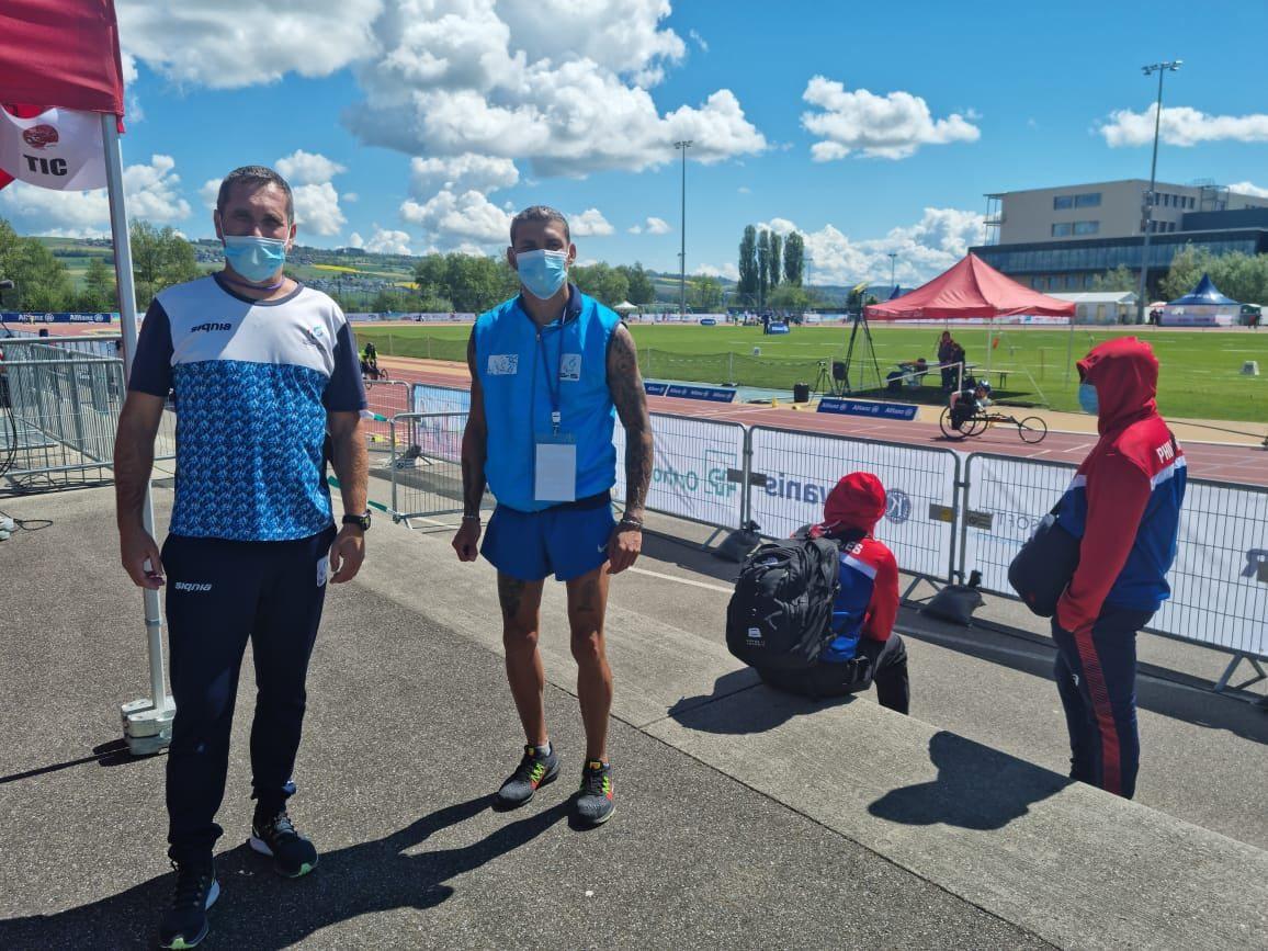 Atletismo paralímpico: Hernán Barreto rompió el récord americano de Suiza
