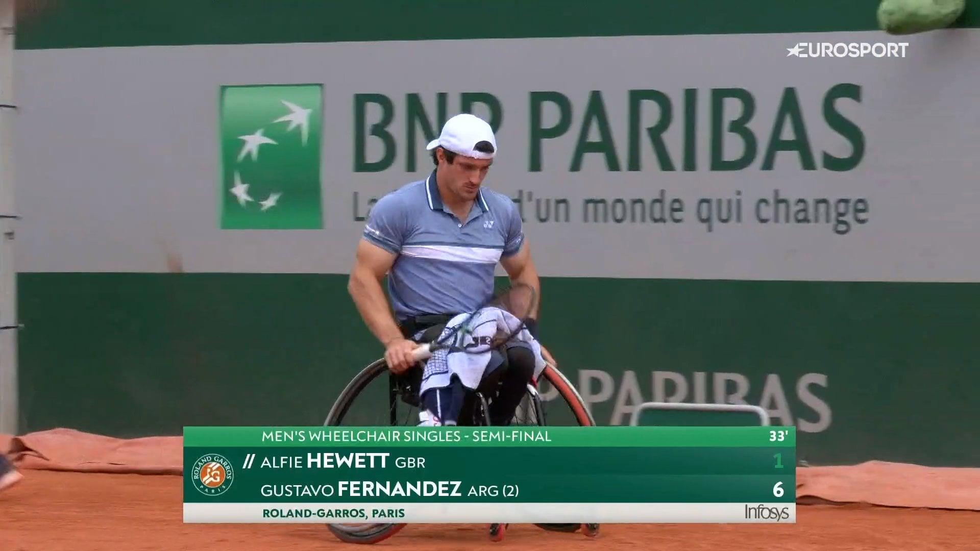 Tenis adaptado: Gustavo Fernández cayó en las semifinales de Roland Garros