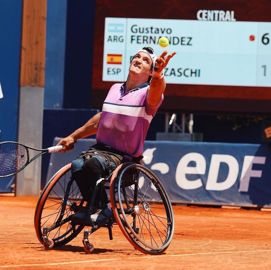 Tenis adaptado: Gustavo Fernández, semifinalista en Francia