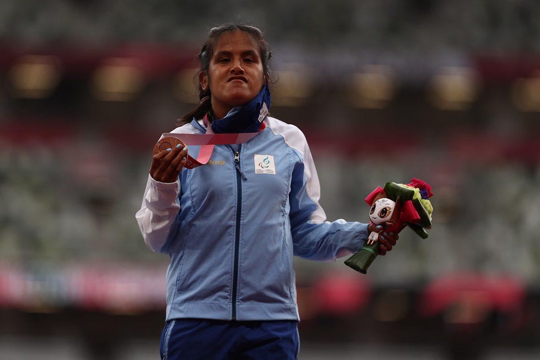 Orgullo argentino: Yanina Martínez, medalla de bronce en los Juegos Paralímpicos de Tokio