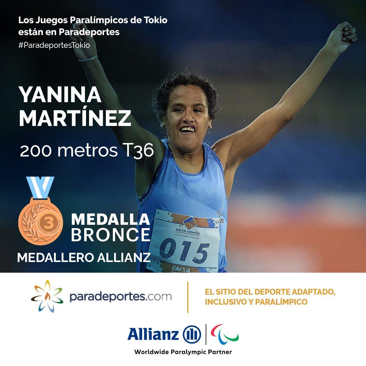 Yanina Martínez, medallista de bronce en los Juegos Paralímpicos
