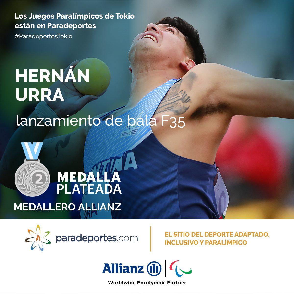 Juegos Paralímpicos: ¡Hernán Urra, medalla plateada en lanzamiento de bala!