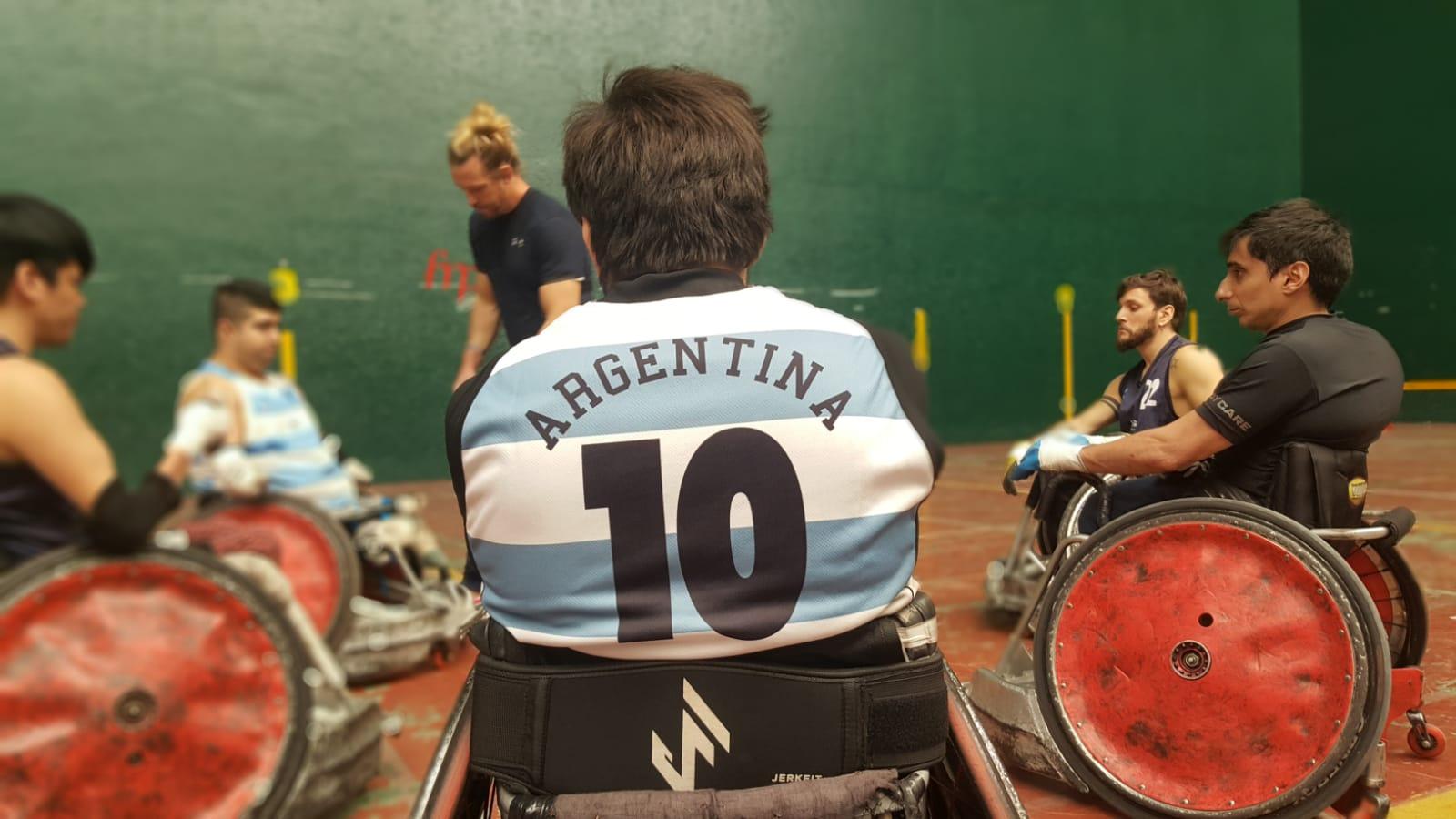 Rugby sobre silla de ruedas: Argentina se prepara para la Copa América