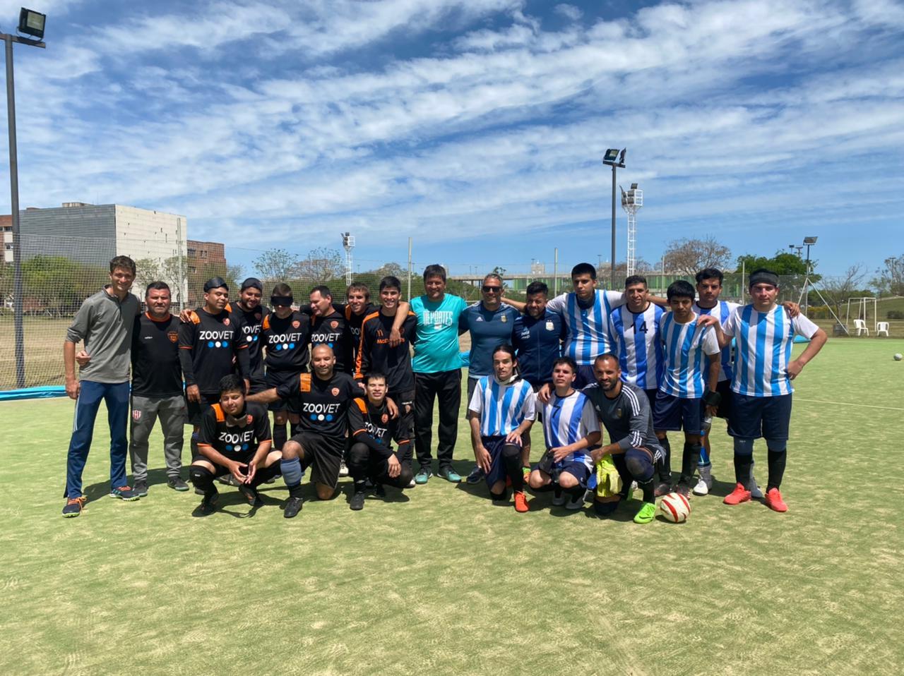 Fútbol para ciegos: Los Murciélagos y una exhibición de lujo en Santa Fe