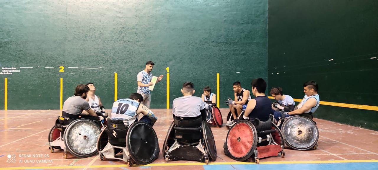 Rugby sobre silla de ruedas: Argentina trabaja y piensa en la Copa América de Colombia